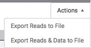 Export Reads & Data