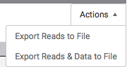Export Reads & Data