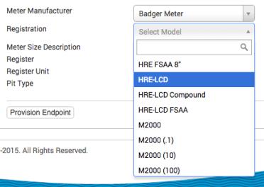 Select Register Model